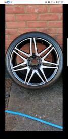 "18"" Genuine Mercedes AMG C Class 18"" Alloy Wheels w204 E C S class"