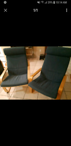 Set of 2 Poang chairs (Ikea)