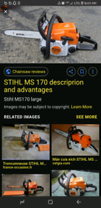 Stihl chainsaw ms170 $100
