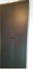 Black pax wardrobe