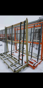 COMMERCIAL  GLASS RACKS FOR SALE