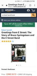 GRETTINGS FROM THE E STREET BAND BOOK
