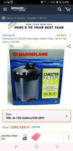 Marineland C530 canister filter **reduced**