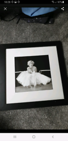Large Marilyn Monroe framed picture