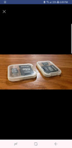 2 Brand NEW MINI SD memory cards - 32 GB each