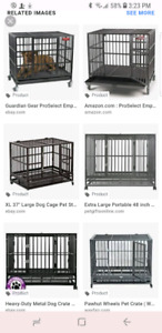 Looking for heavy duty dog crate for LARGE breed