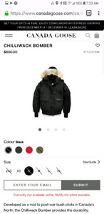 Canada goose chilliwack small womens black