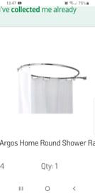 Round shower rail