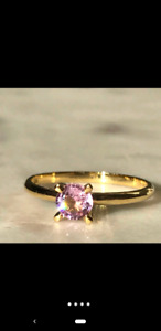 Gorgeous pink sapphire ring with ring box