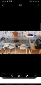 Metal an Glass Table