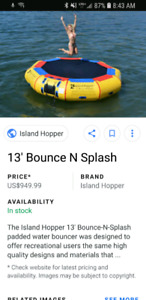 Wanted  water trampoline