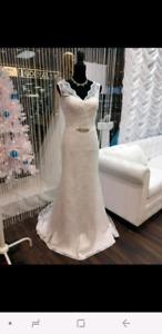 Wedding dress size 10-12 never worn