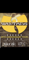 2 Wu tang tickets kitchener