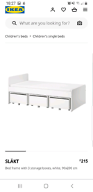 IKEA Single Beds and Underbed Storage Boxes