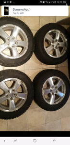 215/60/16 pneu tire hiver winter + 16 inches pouces wheels mags