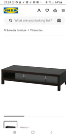 Black IKEA TV Stand/Unit