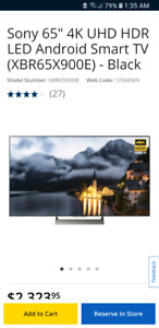Sony 4k Tv ,6 months old ,includes wall mount