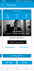 Jerry Seinfeld Tickets Saturday October 13, 2018