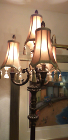 Large vintage heavy lamp height 56 inches