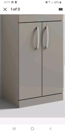 Gray vanity unit no basin boxed