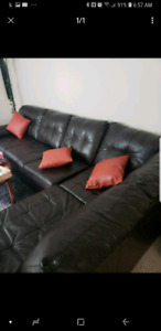 L Shape Leather Couch has to go asap SOLD