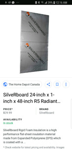 Silverboard R5 Radiant Acoustic foam sheet insulation