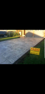 Cement concrete driveways patio walkway shed pad