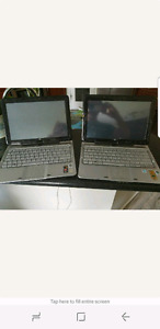 2 x hp touch screen laptops for parts