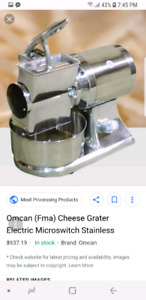 Deli industrial grade cheese grater. 1.5hp
