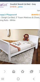 Brand New Scarlett Sleigh Cot Bed Junior Bed RRP £214