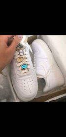 Nike air force 1 limited eddition WHITE LACE BLING