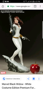 Sideshow Black widow white ver