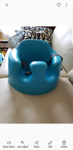 Bumbo chair blue with safety harness