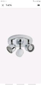 Argos Home Cleo 3 LED Spotlight Bar - Chrome