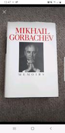Mikhail Gorbachev Memoirs Hardback book