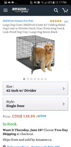"""Large Dog Crate - 42"""""""