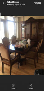 Kitchen Table + 6 chairs + Buffet (solid oak wood)