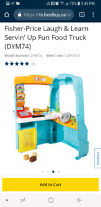Brand new fisher price food truck