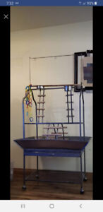 Large parrot play gym play stand