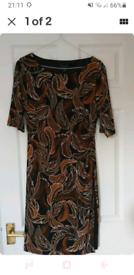 Elegant brown dress size 10