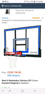 Basketball net with mounting kit