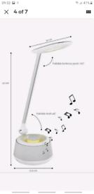 Lexibook BTL030 Decotech Foldable LED Desk Lamp with Bluetooth Speaker