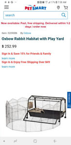 Animal cage with play yard