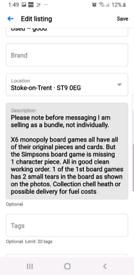X6 monopoly board games
