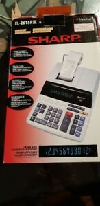 Sharp®12-Digit Desktop Printing Calculator (EL2615PIII)
