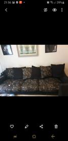 4 seater scatter back sofa