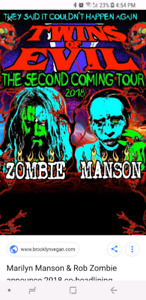tickets for Rob Zombie / Marilyn Manson