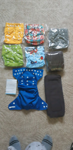 6 brand new pocket diapers