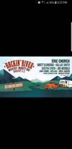 3 rocking river weekend passes for party zone and camping