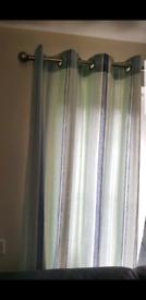 Blue-white- green NEXT curtains